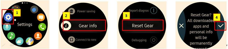 Bagaimana cara restart Gear S3, jika perangkat menjadi Hang atau tidak merespon?