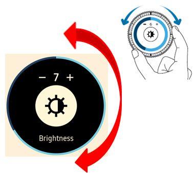 Bagaimana cara mengatur kecerahan / brightness dengan cepat pada Gear S3?