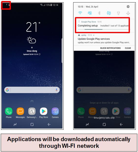 How to re-install preloaded applications after factory reset on my Galaxy S8/S8+?