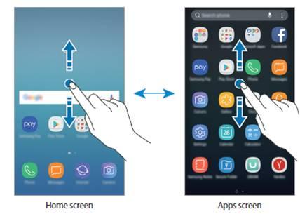 Tombol aplikasi tidak tampil pada layar utama. Dibandingkan device J seri 2016 sebelumnya