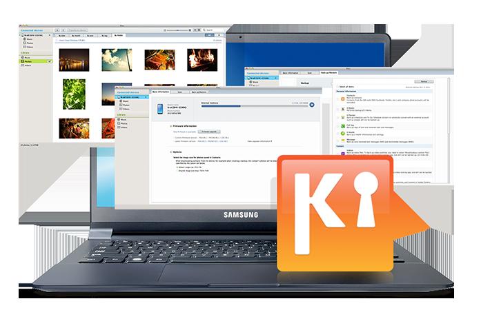 Samsung Kies suporta várias funções e serviços para o seu dispositivo