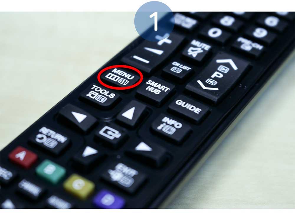 Aceda ao Menu da Smart TV