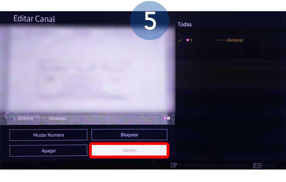 Percorra até ao menu de edição e selecione Opções