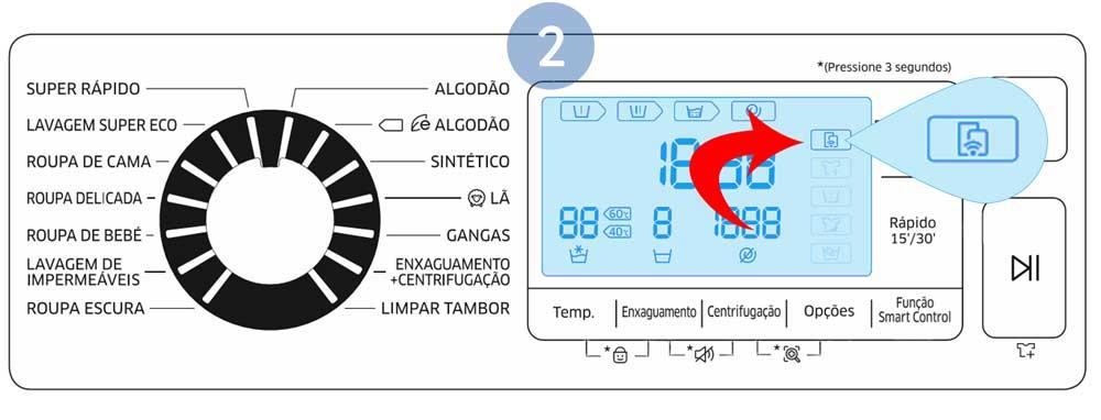 Confirme se o ícone da Função Smart Control se encontra visível
