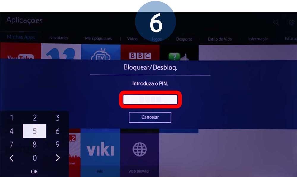 É apresentado o ecrã de introdução da palavra-passe. Introduza a sua palavra-passe