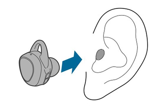 Coloque os auscultadores nos ouvidos para ativar o modo de emparelhamento Bluetooth