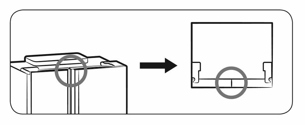 Ajustar a folga entre a porta do frigorífico e o frigorífico