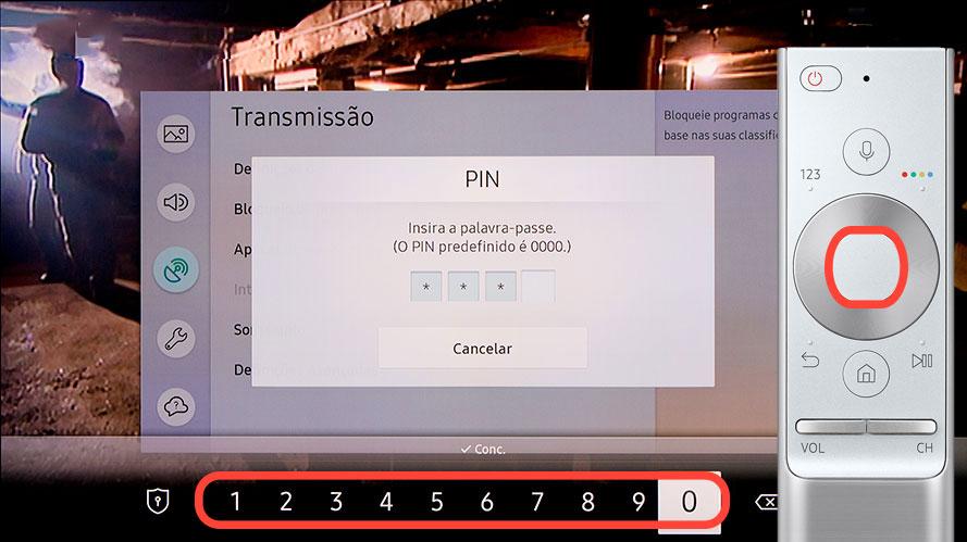 Introduza o PIN