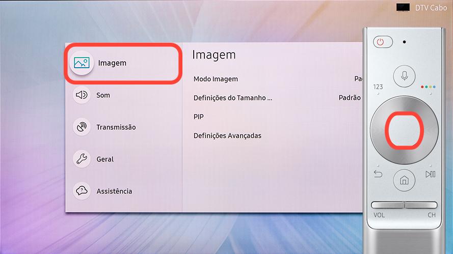 """Selecione """"Imagem"""""""