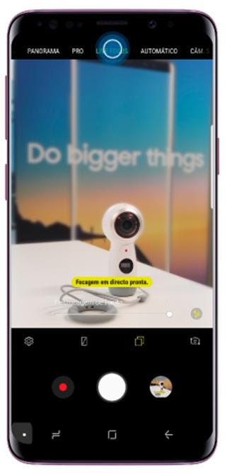 Como tirar uma foto utilizando o Live focus