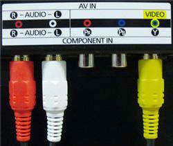 Как подключить внешнее устройство к телевизору при помощи композитного кабеля (3 тюльпана)