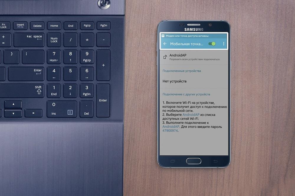 Смартфон, значок мобильной точки доступа