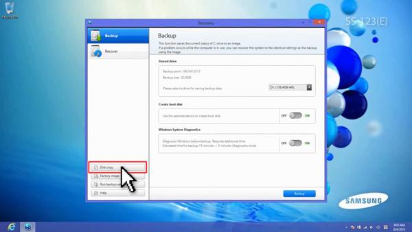 Click Disk copy