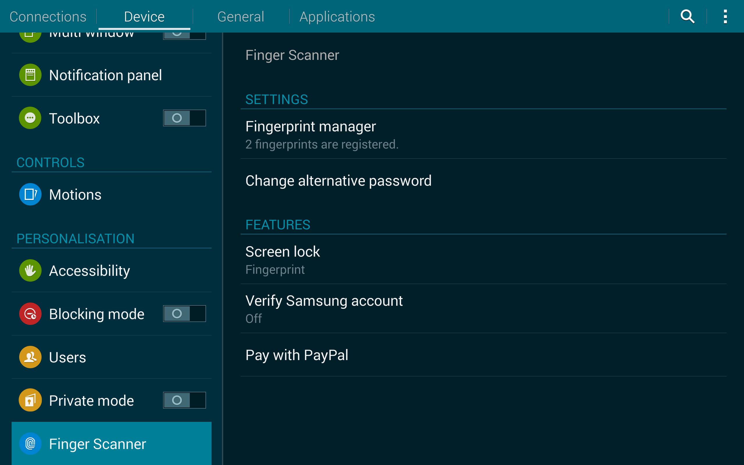 Tap Fingerprint Manager