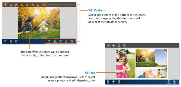 Window 8: Function of S Photo Studio