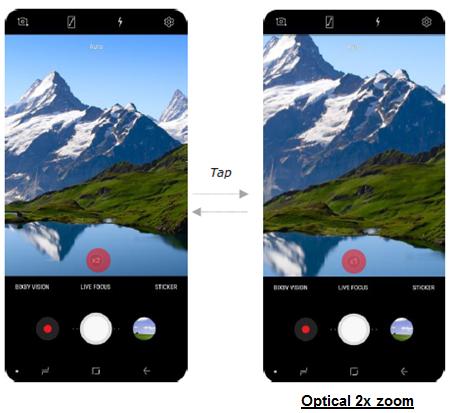 Optical 2x zoom