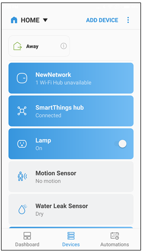 Device shown on dashboard