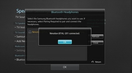 [Smart TV] ฉันสามารถเชื่อมต่อบลูทูธหูฟังกับทีวีได้อย่างไร?
