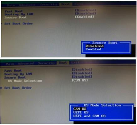 ตั้งค่า BIOS Options ก่อนติดตั้ง Windows