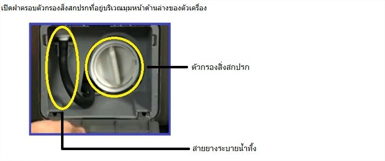 วิธีการแก้ไขเมื่อเครื่องซักผ้าฝาหน้าขึ้รน Error 5E หยุดทำงานและไม่สามารถเปิดฝาออกได้