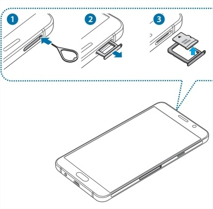 [Galaxy A9 pro] ฉันสามารถถอด SD CARD ได้อย่างไร?