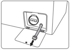 [WD17H7300KP/ST] วิธีการทิ้งน้ำฉุกเฉิน