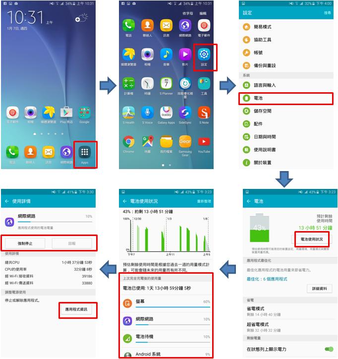 如何檢視 Galaxy Note 5電池使用狀態?如何延長電池使用壽命?