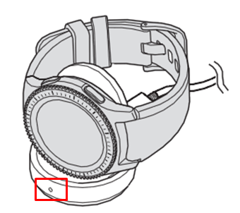 Gear S3 如何查看無線充電座之充電狀態?