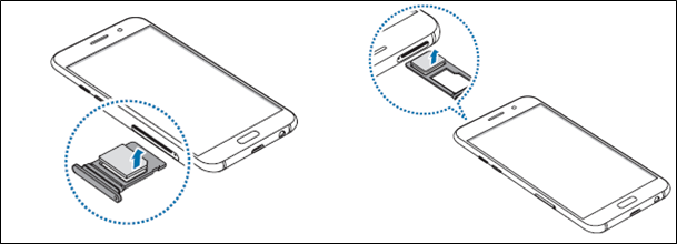 Galaxy A5 / A7 (2017) 如何卸除SIM 卡或 USIM卡?