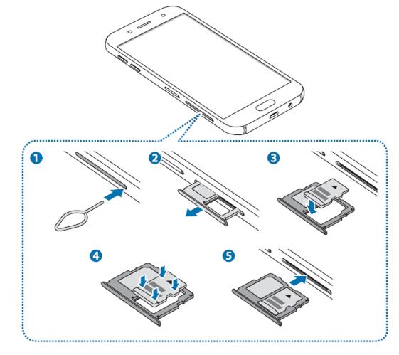 Galaxy J7 Pro 2017 如何安裝記憶卡?