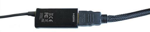 將 HDMI 線連接 MHL  轉接器
