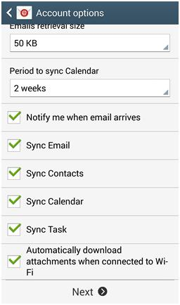 How to setup up a Microsoft Exchange ActiveSync account