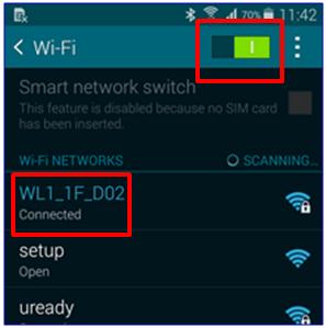 S5 - Settings - Wi-Fi Frames