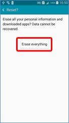 Erase everything.