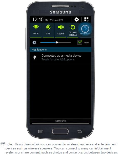 Samsung Bluetooth set-up simulator