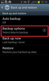 Backup options 2
