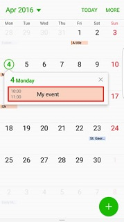 Choose event