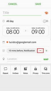 Remove notification