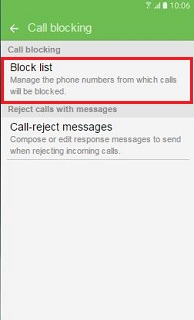 Block list