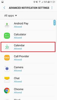 notifications settings