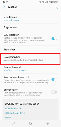 Dimana letak tombol Home, Back dan Recent pada Samsung Galaxy S8 atau S8+?