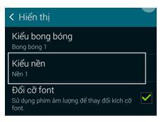 Làm thế nào để thay đổi hình nền trong màn hình tin nhắn máy Galaxy S5?