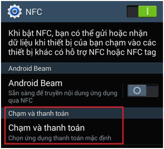 Làm thế nào để thiết lập và sử dụng NFC trên Samsung Galaxy S5?