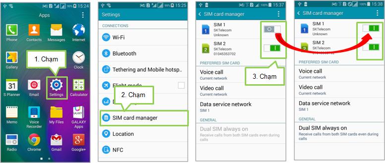 Làm thế nào để sử dụng SIM kép trên Galaxy A7?