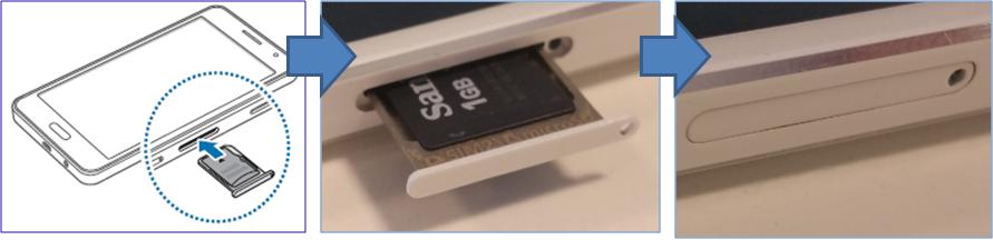 Làm thế nào để lắp thẻ nhớ vào máy Galaxy A7?
