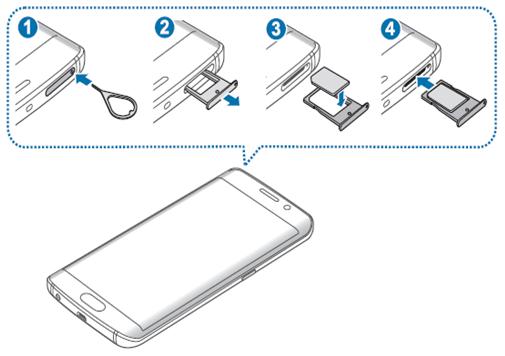 Làm thế nào để lắp thẻ SIM trên Galaxy S6?