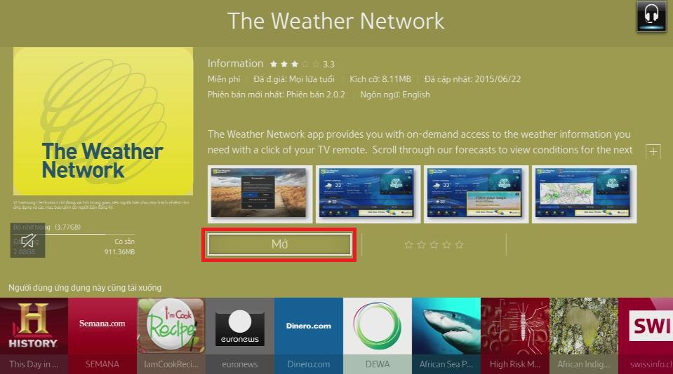 Làm thế nào để tải thêm ứng dụng cho TV UA32J6300AK?