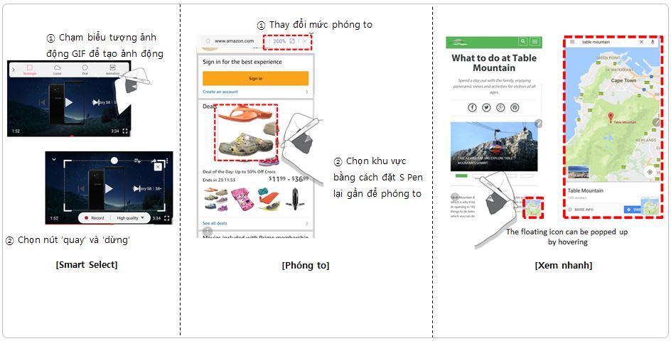 Giới thiệu các tính năng mới của S Pen trên Note 8