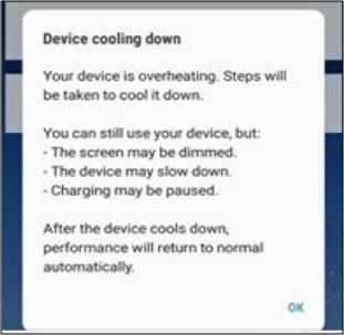 Thông báo Hạ nhiệt thiết bị đột nhiên xuất hiện, buộc đóng ứng dụng đang chạy trên Note 8