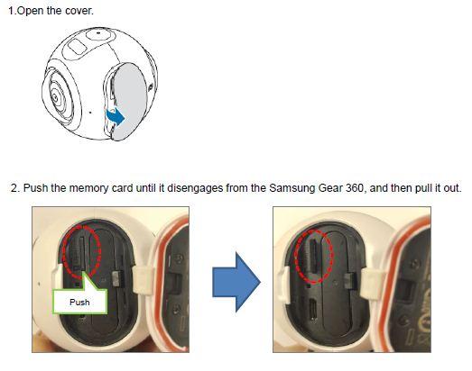 Gear 360 remove M/C